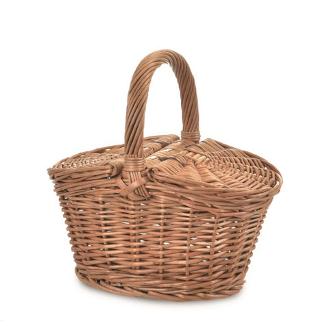 Egmont - Picnic Wicker Basket With Lid - August Lane