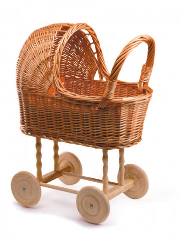 Egmont - Pram Wicker Small With Bedding - August Lane