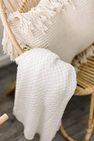 Snuggle Hunny Kids - Diamond Knit Baby Blanket - Cream - August Lane