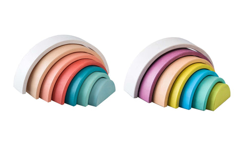 Toyslink - Wooden Rainbow Stacking Toy- Various Colours