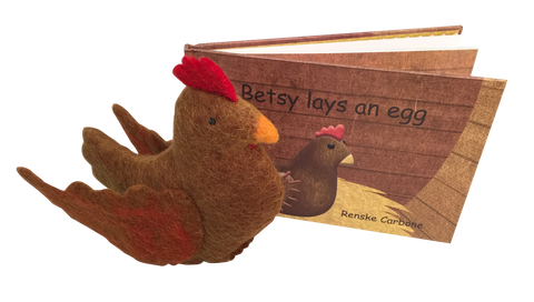 Papoose Toys - Betsy Lays an Egg Book and Toy - August Lane