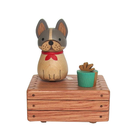 Wooderful Life - Bulldog Mini Music Box - August Lane