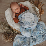 Snuggle Hunny - Organic Muslin Wrap - Eventide Miss Kyree Loves - August Lane
