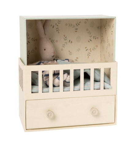 Maileg - Baby Room With Micro Bunny - Musical - August Lane