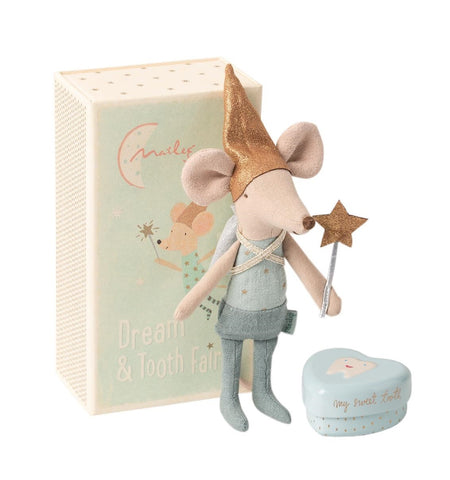 Maileg - Tooth Fairy Brother Mouse in Box - August Lane