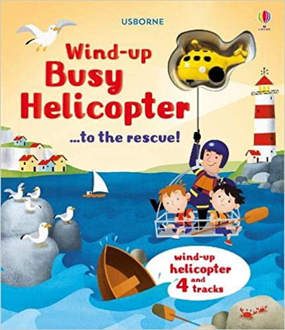 Usborne - Wind Up Busy Helicopter Book - August Lane