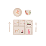 Love Mae - 5 Piece Bamboo Dinner Set - Woodland Tea Party - August Lane