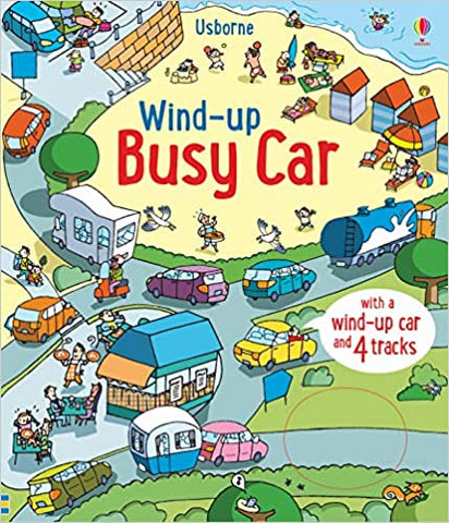 Usborne - Wind Up Busy Car Book - August Lane