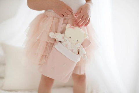 Alimrose - Baby Doll Carry Bag - Pink Linen - August Lane
