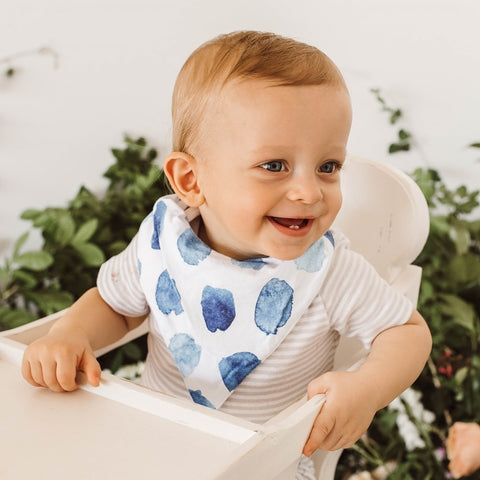 Snuggle Hunny Kids - Dribble Bib - Ocean Skies - August Lane