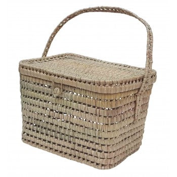 Kikadu - Palm Leaves Big Basket - August Lane