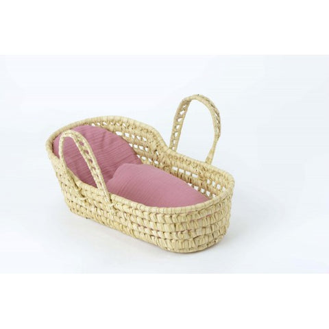 Kikadu - Palm Leaves Doll Basket - August Lane
