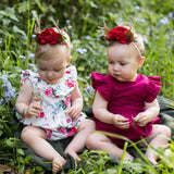 Arch N Ollie - Reindeer Elastic Headband - Woodlands Blossom - August Lane