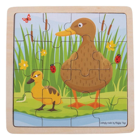 Bigjigs Toys - Duck & Duckling Puzzle