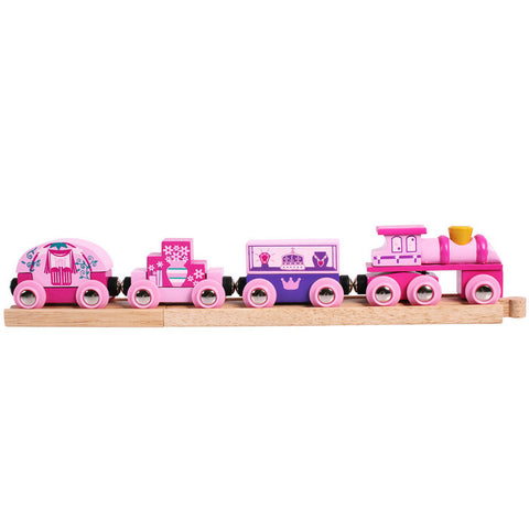 Bigjigs Toys - Wooden Princess Train - Pink