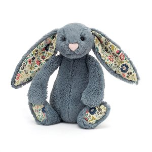 Jellycat - Blossom Bashful Dusky Blue Bunny - Medium - August Lane