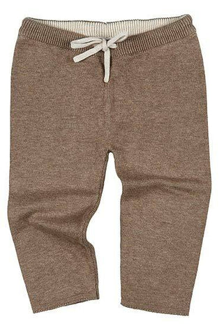 Toshi- Organic Knitted Leggings Wander - Cocoa - August Lane