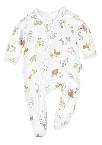 Toshi - Long Sleeve Onesie - Farmers Family - August Lane