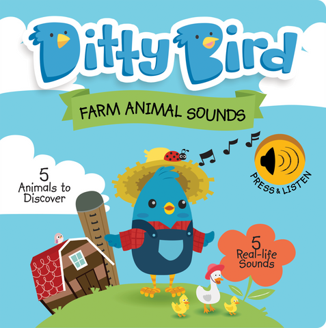 Ditty Bird - Farm Animal Sounds Book - August Lane