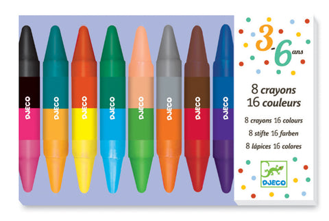Djeco - 8 Double Sided Twin Crayons - August Lane