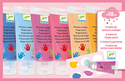 Djeco - Finger Paint Tubes - Sweet - August Lane
