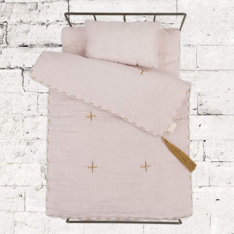 Numero 74- Doll Metal Bed and Linen Set - Powder - August Lane