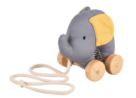 Tikiri- Elephant Pull Toy - August Lane