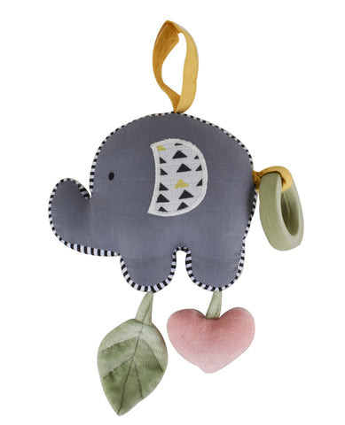 Tikiri - Elephant Vibrating Toy With Rubber Teether - August Lane