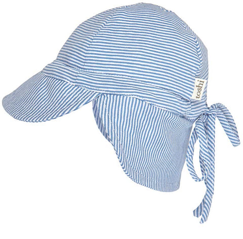 Toshi- Flap Cap Baby - Sky - August Lane