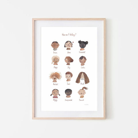 Mushie - Feelings Poster - Various Sizes - August Lane