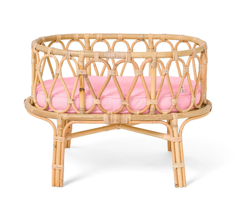 Poppie Toys -  Bassinet - Pink - August Lane