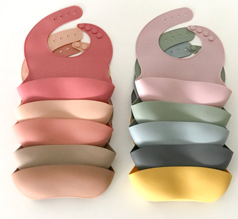My Little Giggles - Silicone Bibs - Various Colours - August Lane
