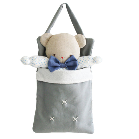 Alimrose - Baby Doll Carry Bag - Grey Linen - August Lane