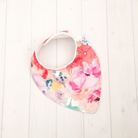 Grubbee - Bright Floral Dribble Bib - August Lane