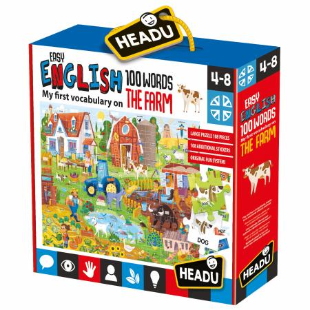 Headu - Easy English 100 Words Puzzle  - Farm - August Lane