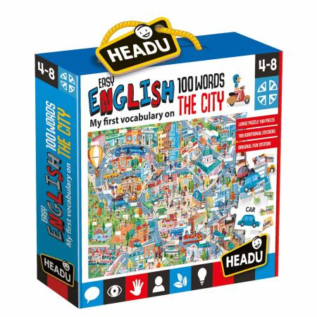 Headu - Easy English 100 Words City Puzzle - August Lane