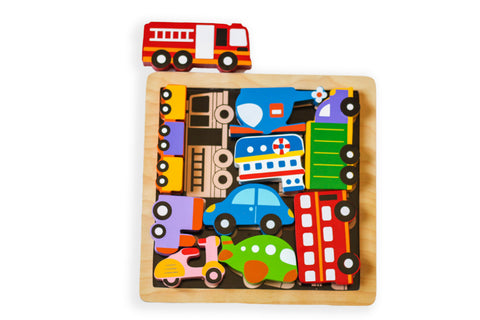 Kiddie Connect - Vehicles Chunky Puzzle - August Lane