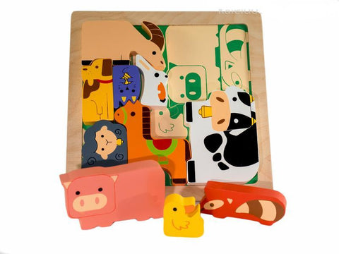 Kiddie Connect - Farm Animal Chunky Puzzle - August Lane