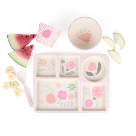 Love Mae - Divided Plate Set - Flower Garden