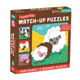 Mud Puppy - I Love You Match Up Puzzle - Farm Baby - August Lane