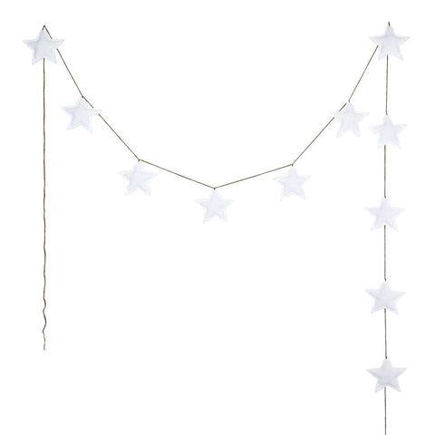 Numero 74 - Mini Garland Star - White - August Lane