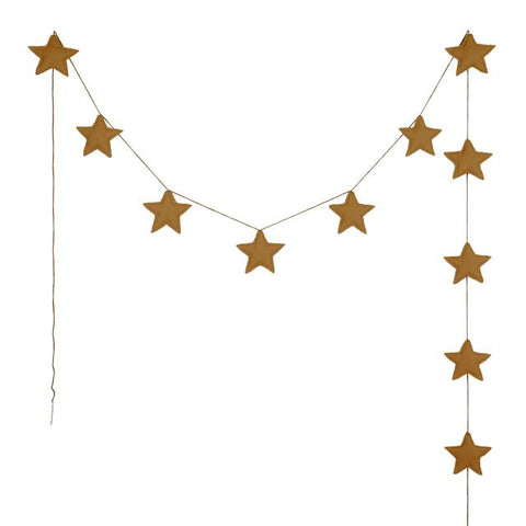 Numero 74 - Mini Star Garland - Gold - August Lane