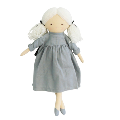 Alimrose - Matilda Doll (45cm) - Grey - August Lane