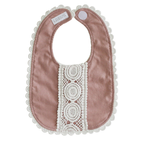 Alimrose - Olivia Linen Bib - Rose - August Lane