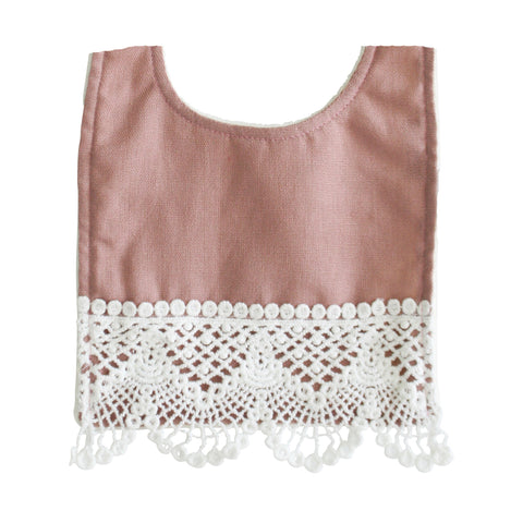 Alimrose - Erin Bib Linen- Rose - August Lane