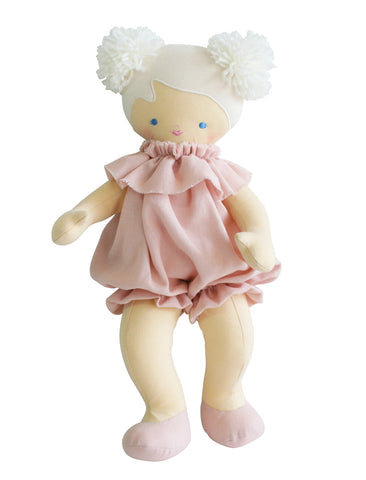 Alimrose- Baby Lucy 40cm - Pink Linen - August Lane
