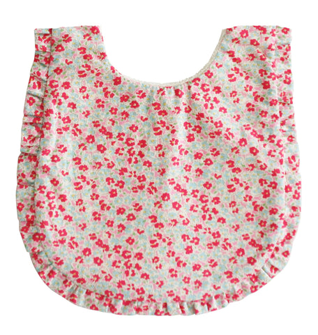 Ruffle Edge Bib - Sweet Floral - August Lane