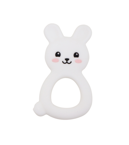 Silimama - Bunny Teether - White - August Lane