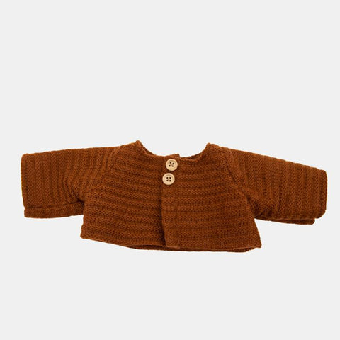 Olli Ella - Dinkum Doll Cardigan- Chestnut - August Lane
