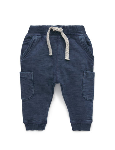 Purebaby - Slouchy Track Pants - Indigo - August Lane